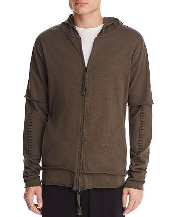 thom/krom - Double Zip Hooded Sweatshirt