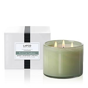 Lafco Fresh-Cut Gardenia 3-Wick Living Room Candle