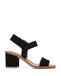 Via Spiga - Women's Kamille Suede Block Heel Ankle Strap Sandals