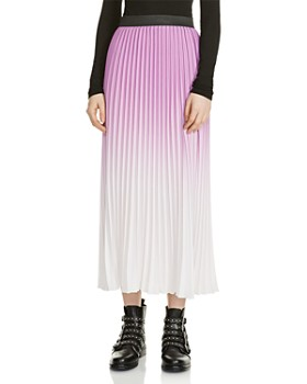 Maje - Jonael Ombré Pleated Skirt