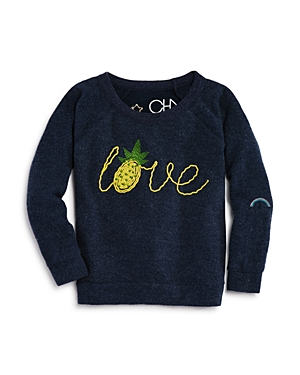 Chaser Girls Embroidered Pineapple Love Sweater  Little Kid