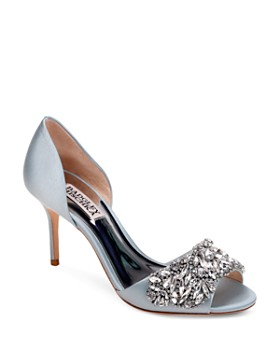 Badgley Mischka - Women's Hansen Embellished Satin d'Orsay High-Heel Pumps