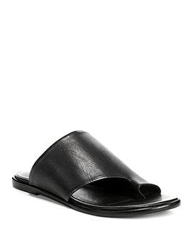 Vince - Women's Edris Leather Slide Sandals