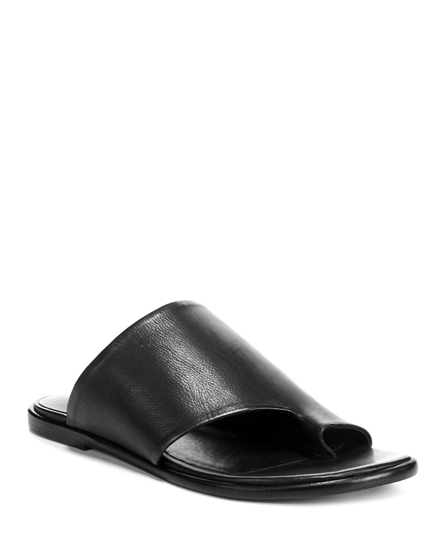 Cheap Sale Factory Outlet Vince Women's Edris Leather Slide Sandals Comfortable Cheap Price Latest Cheap Price Outlet Clearance Store Sale Manchester WgP43sQNJ6