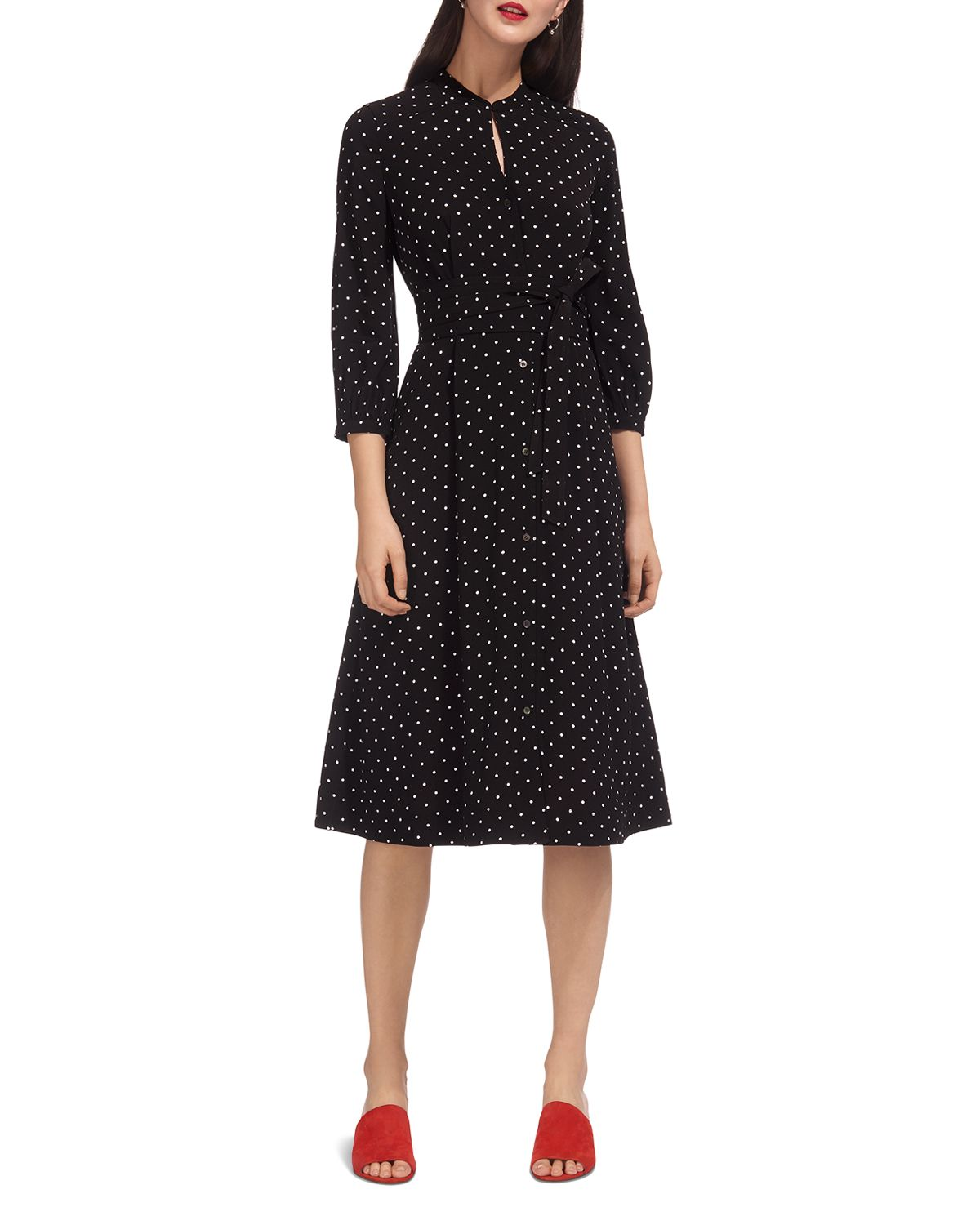 Kamala Polka Dot Shirt Dress by Whistles