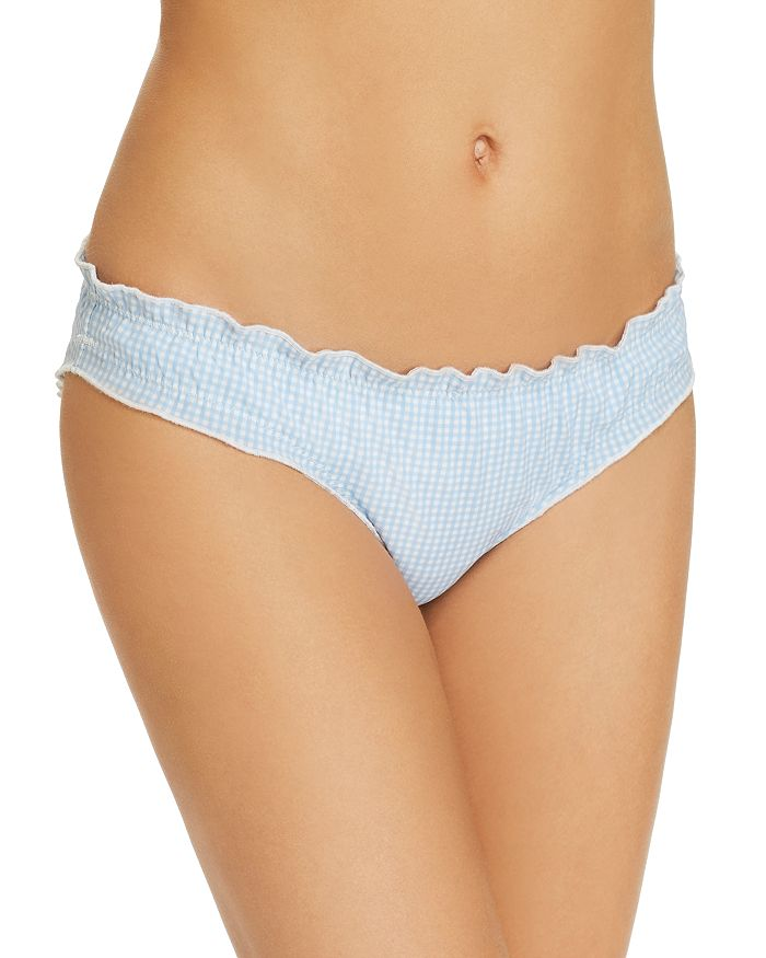 Shoshanna - Mini Gingham Ruffled Bikini Bottom
