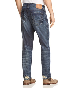 True Religion - Geno Straight Fit Jeans in Worn Combat Blue