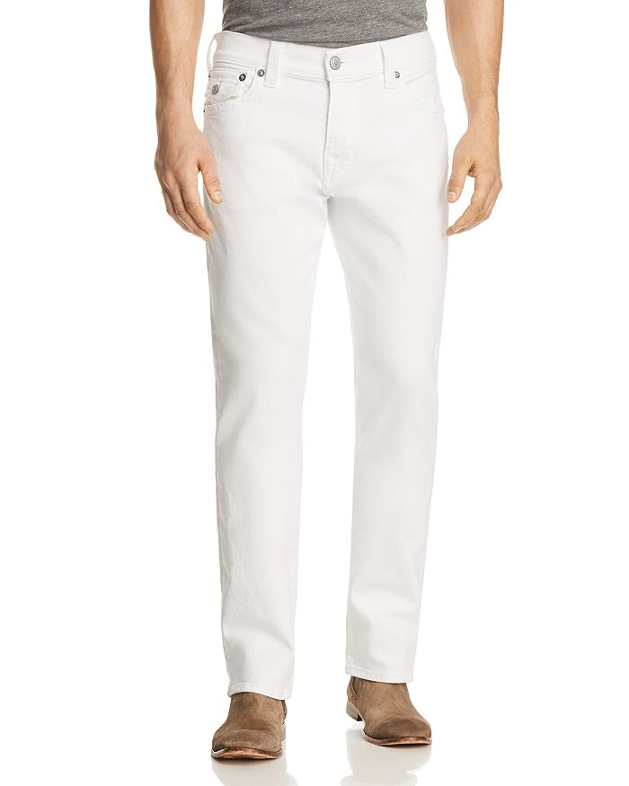 True Religion - Ricky Flap Relaxed Fit Jeans in Optic Stone