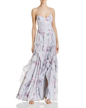 Fame and Partners - Nav Floral Gown