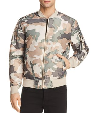 WESC MEN'S CAMOUFLAGE LIGHTWEIGHT BOMBER JACKET