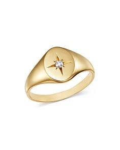 Zoë Chicco - 14K Yellow Gold Diamond Star Signet Ring