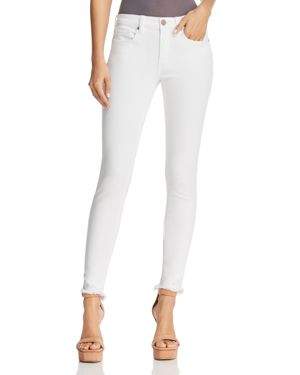 Blanknyc Frayed Skinny Jeans in White - 100% Exclusive 2874342