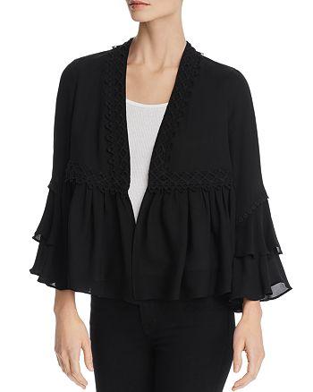 Kobi Halperin - Nessa Ruffled Silk Peplum Jacket