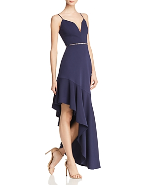 Bcbgmaxazria Asymmetric Cutout Dress