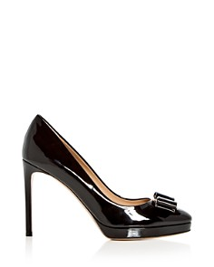 Salvatore Ferragamo - Women's Osimo Patent Leather High-Heel Platform Pumps