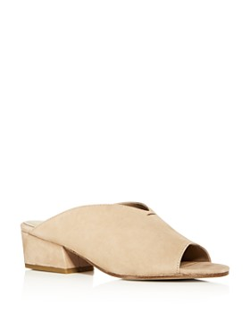 Eileen Fisher - Women's Katniss Nubuck Leather Block Heel Slide Sandals