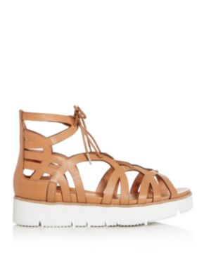 Kenneth Cole Gentle Souls Women's Larina Leather Gladiator Platform Sandals zmyaaQ