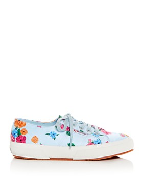 Superga - Women's Classic Floral Satin Lace Up Sneakers