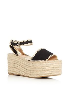 Pour La Victoire - Women's Ria Suede & Raffia Espadrille Platform Wedge Sandals