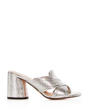 Marc Jacobs Women's Aurora Leather Crisscross High-Heel Slide Sandals 5cRtHcpR