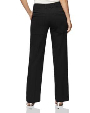 Leya - Pantalones De Pierna Ancha En Negro, Para Mujer, Talla 10 Reiss