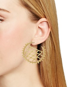 BAUBLEBAR - Crochet Lattice Hoop Earrings