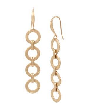 Robert Lee Morris Soho Linear Ring Drop Earrings