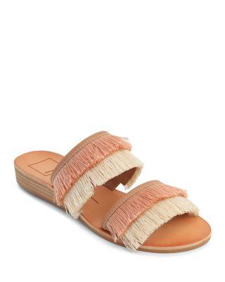 Dolce Vita Haya Banded Fringe Wedge Sandals ehpg4