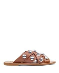 Marc Fisher LTD. - Women's Raidan Leather Stud Slide Sandals