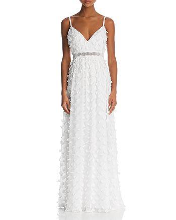 Nicole Miller New York - Nicole Miller Floral-Appliqué Gown