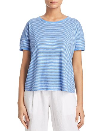 Eileen Fisher - Striped Boxy Top