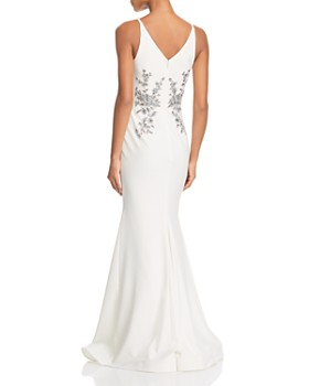 Avery G - Sleeveless Beaded Embroidered Gown