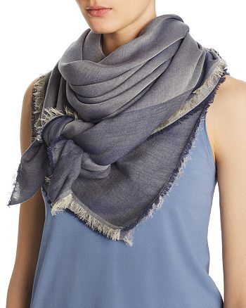 Abstract - Bordered Tonal Scarf - 100% Exclusive