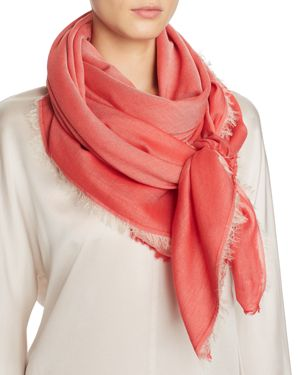 ABSTRACT BORDERED TONAL SCARF - 100% EXCLUSIVE