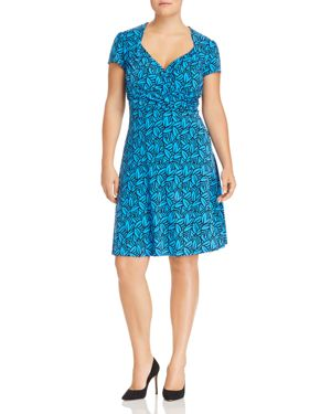 LEOTA Sweetheart Fit-And-Flare Dress in Forge Blithe