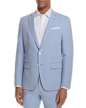 Boss Linen Solid Slim Fit Sport Coat