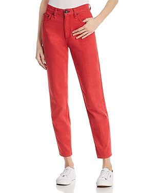 rag & bone/Jean Ash Straight-Leg Jeans in Bull Red