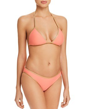 Sam Edelman - Pop Solids Reversible Triangle Bikini Top & Moderate Coverage Reversible Bikini Bottom