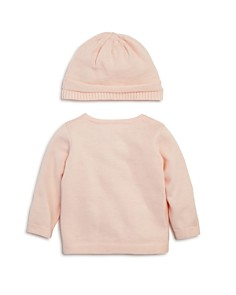 Bloomie's - Girls' Ruffled Cardigan & Knit Hat Set, Baby - 100% Exclusive