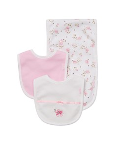 Little Me - Girls' Rose Bibs & Burp Cloth Set - Baby