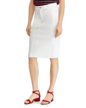 37d211dd7f9 Ralph Lauren - Stretch-Denim Pencil Skirt
