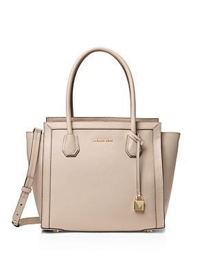Michael Michael Kors Mercer Studio Large East/West Leather Tote-Handbags