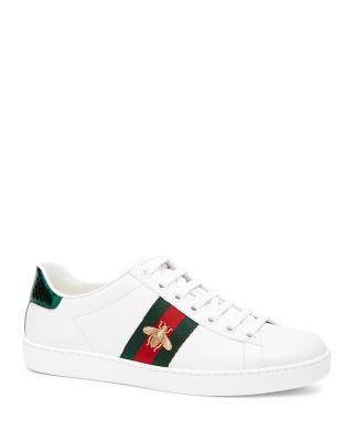 Gucci Ace Watersnake-trimmed