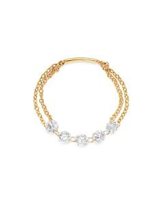 AeroDiamonds - 18K Yellow Gold Quintet Diamond Chain Ring