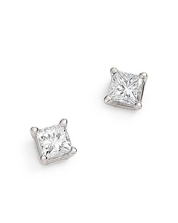 Bloomingdale's - Diamond Princess-Cut Studs in 14K White Gold, 0.25 ct. t.w. - 100% Exclusive