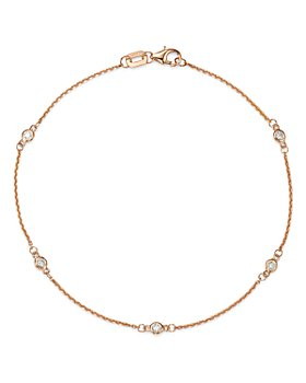 Bloomingdale's - Diamond Station Bracelet in 14K Gold, 0.10 ct. t.w. - 100% Exclusive