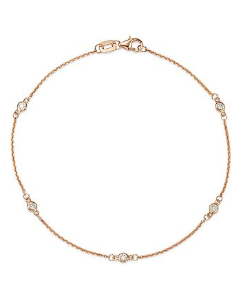 Bloomingdale's - Diamond Station Bracelet in 14K Rose Gold, 0.10 ct. t.w. - 100% Exclusive