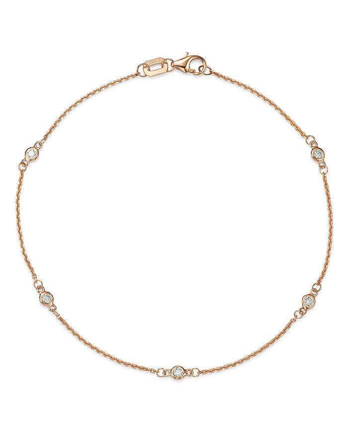 Bloomingdale's - Diamond Station Bracelet in 14K Gold, 0.10 ct. t.w. - 100% Exclusive
