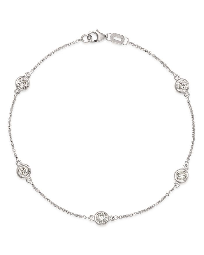 Bloomingdale's - Diamond Station Bracelet in 14K White Gold, 0.70 ct. t.w. - 100% Exclusive