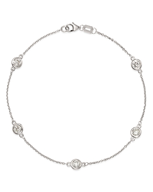 Bloomingdale's Diamond Station Bracelet in 14K White Gold, 0.70 ct. t.w. - 100% Exclusive